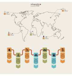 Oil infographic vector image