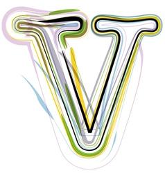 Organic Font letter v vector