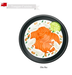 Ota Ika or Tongan Raw Fish in Coconut Milk vector image