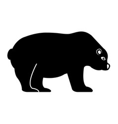 polar bear isolated icon vector image
