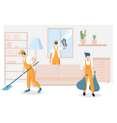 professional home cleaning services concept vector image
