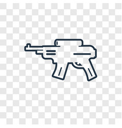 rifle concept linear icon isolated on transparent vector image
