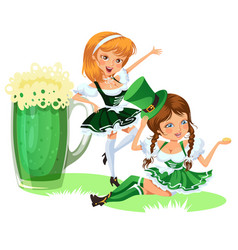 saint patrick day characters sexy girl in vector image