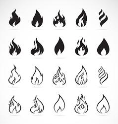 set flame symbols vector image