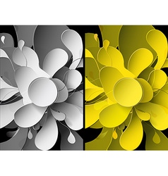 Set of abstract backgrounds with paper flower vector