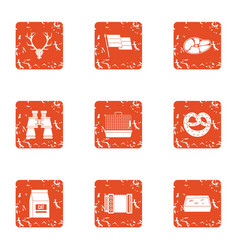Shiver icons set grunge style vector