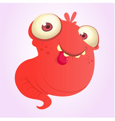silly cartoon red monster vector image