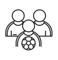 soccer game team players and ball league vector image