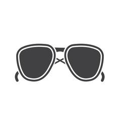 Sunglasses glyph icon vector