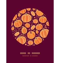 Thanksgiving pumpkins circle decor pattern vector image