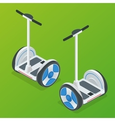 Two-wheeled self-balancing electric scooter vector