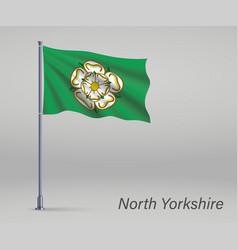 Waving flag north yorkshire - county vector