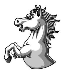 White horse mascot logo design vector