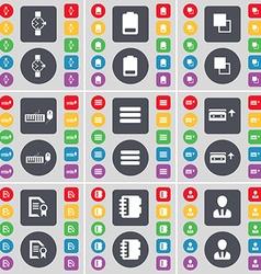 Wrist watch Battery Copy Keyboard Apps Cassette vector image