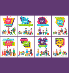 best sale exclusive products vector image