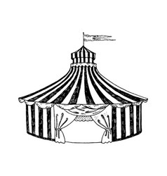 circus tent engraving style vector image