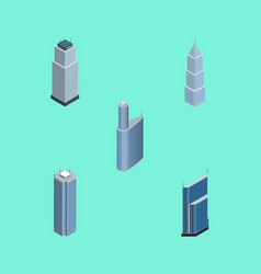 Isometric skyscraper set of skyscraper vector