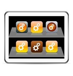 Tools orange app icons vector image vector image