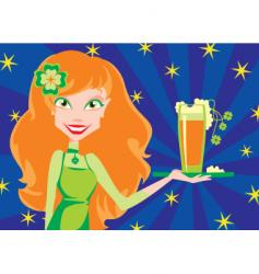 with beer vector image vector image
