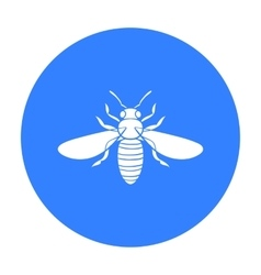 Bee icon in black style isolated on white vector image