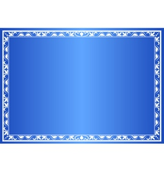 blue decorative frame with gradient vector image vector image