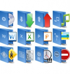 computer icons document icon set vector image vector image