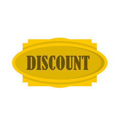 discount label icon flat style vector image