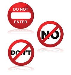 Forbidden signs vector