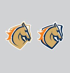 Horse head logotype vector