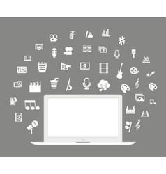 Laptop art vector image vector image