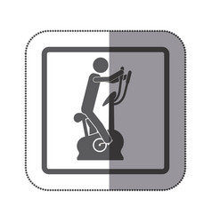 person exercising on a machine icon vector image vector image