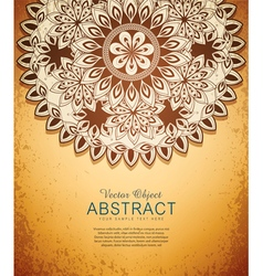 vintage hand-drawn abstract flowers pattern vector image vector image