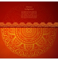 Red indian vintage ornament for your business vector