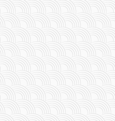 3D white textured overlapping half circles vector