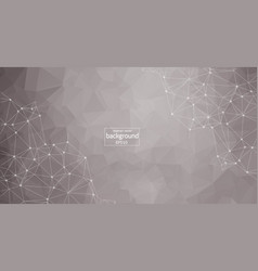 abstract polygonal space low poly light grey vector image