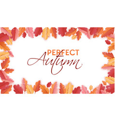 Autumn background template with beautiful leaves vector