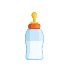 Baby milk bottle on a white vector