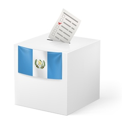 Ballot box with voting paper Guatemala vector image