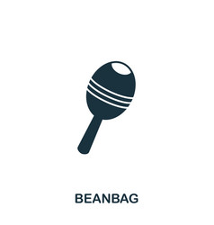 beanbag icon mobile apps printing and more usage vector image