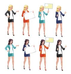 Beautiful Secretary vector image