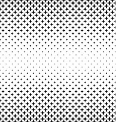 Black and white thorn pattern design background vector