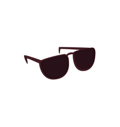 black sunglasses with dark lens isolated on white vector image