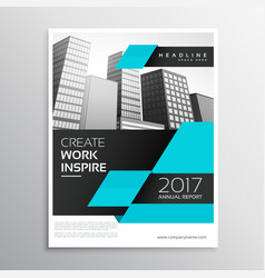 blue and black business brochure design in a4 vector image
