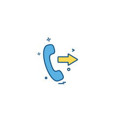 call icon design vector image