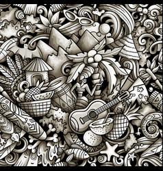 cartoon doodles figi seamless pattern vector image