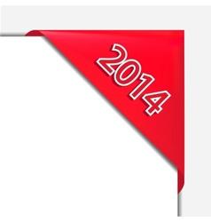 christmas corner ribbon vector image