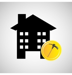 construction pick axe icon graphic vector image