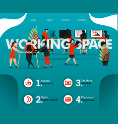 creative people are sharing room at working space vector image