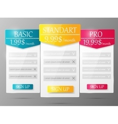 Design element for website vector