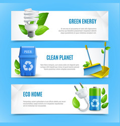 ecology realistic paper banners vector image